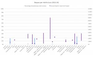 Gràfic 7: Beques per mèrits (curs 2013-14).